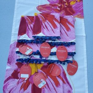 8 Opal House Floral Pom Pom Kitchen Towels